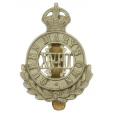 18th Hussars (Queen Mary's Own) Cap Badge - King's Crown