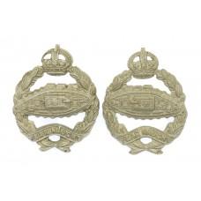 Pair of Royal Tank Regiment Collar Badges - King's Crown