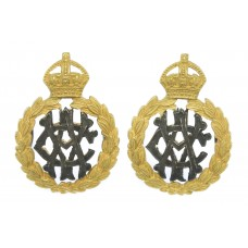 Pair of Army Veterinary Corps (A.V.C.) Officer's Silvered & G