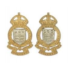 Pair of Royal Army Ordnance Corps (R.A.O.C.) Officer's Silvered &