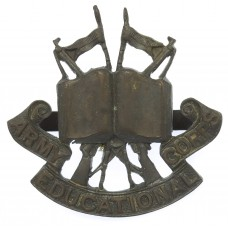 Army Educational Corps Officer's Service Dress Cap Badge (1st Pa