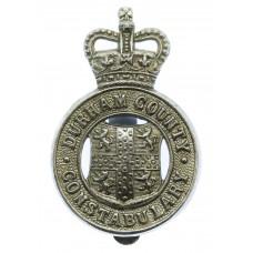 Durham County Constabulary Cap Badge - Queen's Crown
