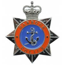 Tees and Hartlepool Harbour Police Enamelled Cap Badge - Queen's Crown
