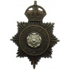 Northamptonshire Constabulary Black Helmet Plate - King's Crown