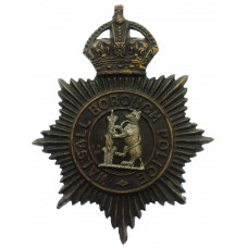 Walsall Borough Police Night Helmet Plate - King's Crown