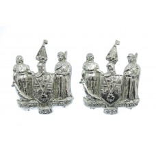Pair of Southend-on-Sea Constabulary Collar Badges