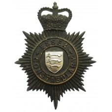 Essex Constabulary Night Helmet Plate - Queen's Crown