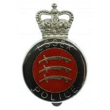 Essex Police Enamelled Cap Badge - Queen's Crown