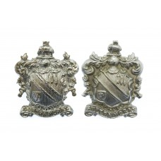 Pair of County Borough of Bolton Police Collar Badges