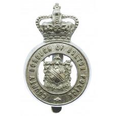 County Borough of Bolton Police Cap Badge - Queen's Crown