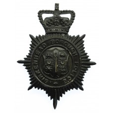 Birkenhead Borough Police Night Helmet Plate - Queen's Crown