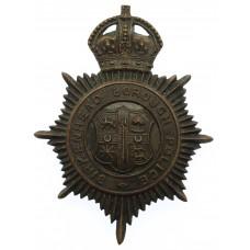 Birkenhead Borough Police Night Helmet Plate - King's Crown