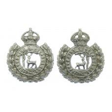 Pair of Berkshire Constabulary Collar Badges - King's Crown