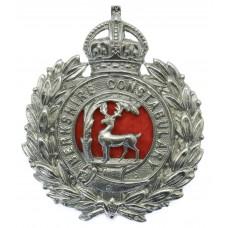 Berkshire Constabulary Wreath Cap Badge - King's Crown