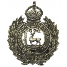 Berkshire Constabulary Wreath Helmet Plate - King's Crown