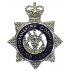 Nottinghamshire Constabulary Senior Officer's Enamelled Cap Badge - Queen's Crown