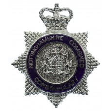 Nottinghamshire Combined Constabulary Senior Officer's Enamelled Cap Badge - Queen's Crown