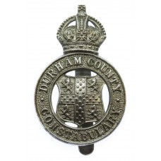 Durham County Constabulary Cap Badge - King's Crown