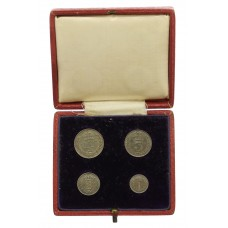 Edward VII 1907 Maundy Money Coin Set in Dated Box (4 Coins)