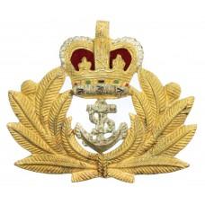 Royal Navy Officer's Beret Badge - Queen's Crown