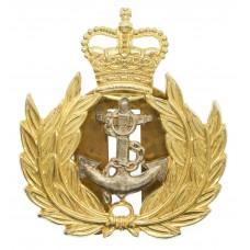 Royal Navy Warrant Officer's Cap Badge - Queen's Crown