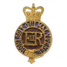 EIIR Household Cavalry Officer's Gilt & Enamel Cap Badge