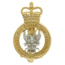 Queen's Own Mercian Yeomanry Anodised (Staybrite) Cap Badge - Queen's Crown