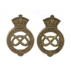 Pair of Victorian Staffordshire Yeomanry (Queen's Own Royal Regim