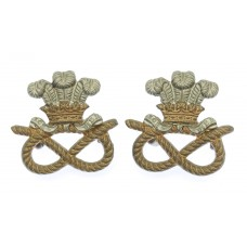 Pair of North Staffordshire Regiment Collar Badges