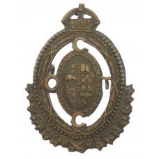 Canadian Manitoba University C.O.T.C. Cap Badge - King's Crown