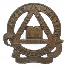 Canadian Mount Allison University C.O.T.C. Cap Badge