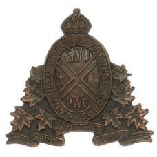 Canadian St. Dunstan's University C.O.T.C. Cap Badge - King's Cro
