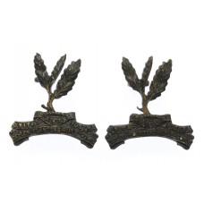 Pair of Ceylon Planters Rifle Corps Collar Badges