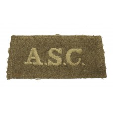 Army Service Corps (A.S.C.) WW1 Cloth Slip On Shoulder Title
