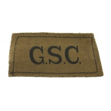 General Service Corps (G.S.C.) WW2 Printed Slip On Shoulder Title