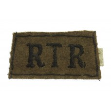 Royal Tank Regiment (R.T.R.) WW2 Cloth Slip On Shoulder Title