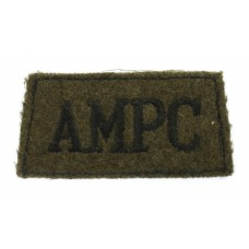 Auxiliary Military Pioneers Corps (A.M.P.C.) WW2 Cloth Slip On Shoulder Title