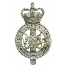 Salford City Police Cap Badge - Queen's Crown
