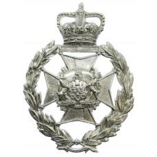 Salford City Police Wreath Helmet Plate - Queen's Crown