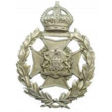 Salford City Police Wreath Helmet Plate - King's Crown
