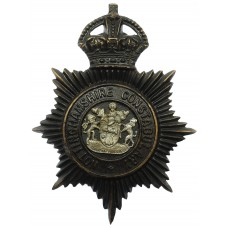 Nottinghamshire Constabulary Night Helmet Plate - King's Crown