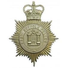 East Suffolk Police Helmet Plate - Queen's Crown