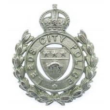 Leeds City Police Wreath Cap Badge - King's Crown