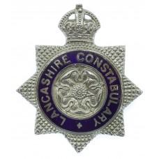 Lancashire Constabulary Senior Officer's Enamelled Cap Badge - Ki