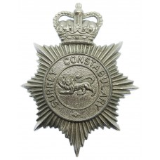 Surrey Constabulary Plastic Helmet Plate - Queen's Crown