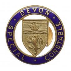 Devon Special Constabulary Special Constable Enamelled Lapel Badg