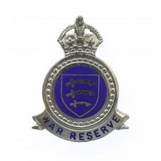 Essex Constabulary War Reserve Enamelled Lapel Badge - King's Cro