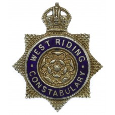 West Riding Constabulary Senior Officer's Enamelled Cap Badge - King's Crown