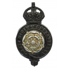 West Riding Constabulary Cap Badge - King's Crown