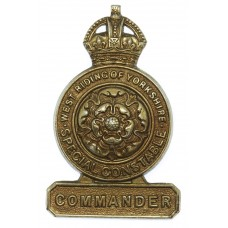 West Riding Constabulary Special Constable Commander Badge - King's Crown